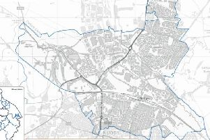 A map showing the areas covered by the report.