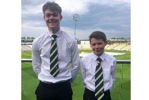 Barby's Seth Westley (Under 19s) and William Tarrant (Under 13s) received their Warwickshire county ties last week after earning selection to their respective summer squads