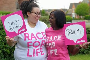 Rugby mother and daughter raise £5,000 for Cancer Research UK in Graeme's memory