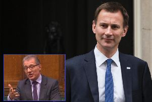 Jeremy Hunt (Getty Images) and, inset, Rugby MP Mark Pawsey.