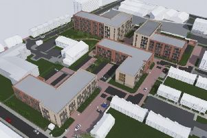 An artist's impression of how the four blocks could look.