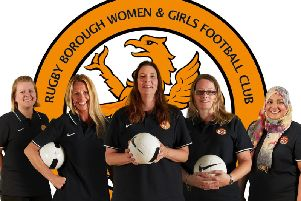 Rugby Borough Women and Girls sections new committee: Theresa Blandford, Gina Fawcett, Emma Bisset, Kelly Ray and  Kashifa Hussain