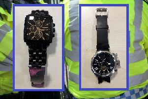 The two watches featured in the witness appeal.