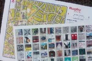The orienteering map and photo sheet from Sundays challenge, which had 87 locations to find  before 12.30pm