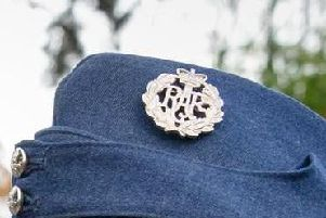 Stock image: An RAF side cap.