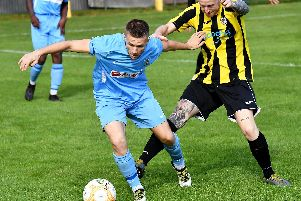 Lewis Hayden was red carded against Holbeach