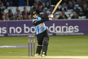 Will Beer batting for Sussex. Picture by PW Sporting Photography