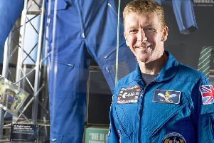 Tim Peake visiting the exhibition about him at the Novium Museum in Chichester earlier this year. Peter Langdown picture