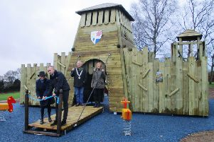 Castle play equipment installed at the North Trade Road recreation ground. Picture: Battle Town Council