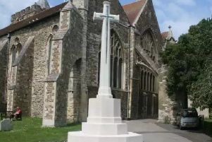 The War Memorial in St Mary's churchyard. Picture: Anthony Kimber