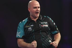 Rob Cross is through to the semi-finals of the William Hill World Darts Championship. Picture courtesy Lawrence Lustig/PDC