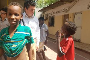 Huw Merriman, MP's, visit with UNICEF to Africa SUS-181005-121728001