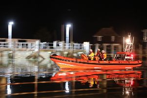 Rye Lifeboat returning to the station