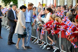 Harry and Meghan, Duke and Duchess of Sussex visit Chichester. Pic Steve Robards SR1825321 SUS-180310-125736001