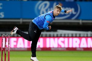 Will Beer in action on Vitality Blast Finals Day at Edgbaston