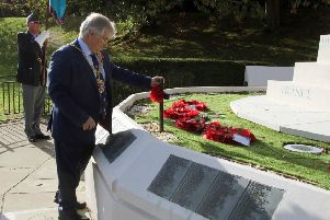 Opening of the Garden of Remembrance, Hastings war memorial. Photo by Roberts Photographic SUS-181029-073537001