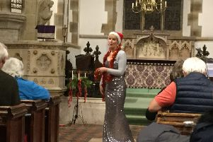 Thomasin Trezise, a professional opera singer, sang some beautiful well known arias in the stunning setting of St John the Baptist in Sedlescombe during a festive opera evening with carols SUS-181112-082426001