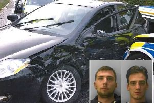 Two men have been jailed for robbing a terminally ill man of his car and leading police on a pursuit through Bexhill. Picture: Sussex Police