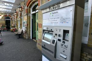 A Southern ticket vending machine