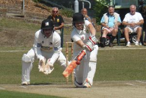 Ryan Hoadley batting for Hastings Priory against Roffey last season. Picture by Simon Newstead