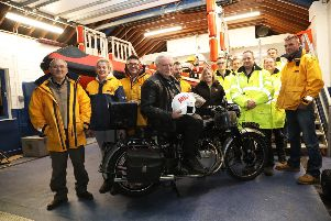 John with members of Rye Harbour RNLI. Picture by KT Bruce SUS-190220-181816001