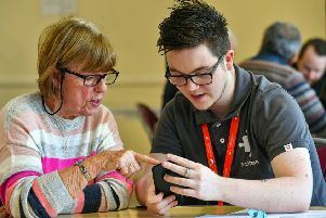 Vodafone staff are helping the over-50s with their tech questions at TechConnect masterclasses.'Photo: Professional Images/@ProfImages