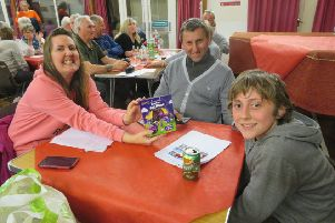 The least successful team 'The  3 Thinkers' at the Rotary Club of Senlac's quiz at Little Common Community Centre to raise funds for local good causes. SUS-190904-121255001