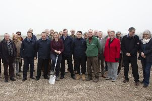 Groundbreaking ceremony of new Discovery Centre at Rye Harbour Nature Reserve. Photo courtesy of Graham Franks. SUS-191004-092744001