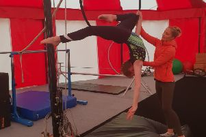 Learning aerial skills at circus