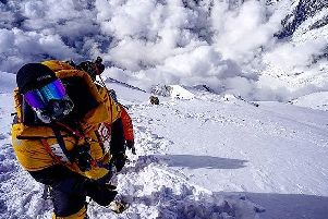 Rupert Jones-Warner at the summit of Annapurna