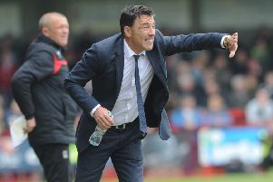 Dean Saunders during his time as manager of Crawley Town. Picture by Jon Rigby