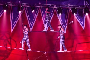 Hire wire acrobats
