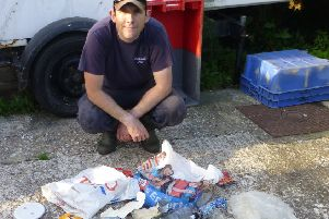 Just some of the rubbish pulled from the sea