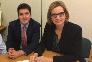 Huw Merriman and Amber Rudd