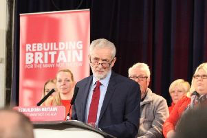 Jeremy Corbyn gave a speech in Hastings in January 2019