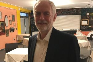 Jeremy Corbyn at Sussex College SUS-191210-192017001