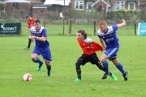 Action from Sidley United's win at East Dean