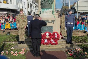 Bexhill Remembrance Service 2019. Photo by Jeff Penfold