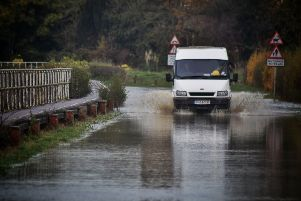 Flooding in Thrussington after the latest heavy rain EMN-191115-150132001
