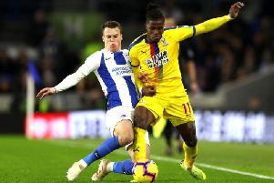 Brighton and Hove Albion will take on Crystal Palace at Selhurst Park on Monday night