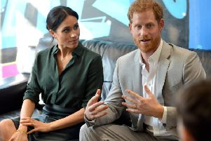 The Duke and Duchess of Sussex during their visit to the county in October 2018. Pictured at the Joff Youth Centre in Peacehaven