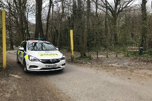 Police at High Woods car park