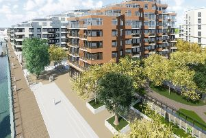 Developer's images of the Free Wharf development in Shoreham