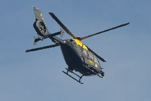 The police helicopter was called upon