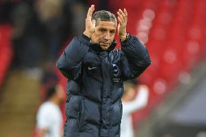 Brighton & Hove Albion manager Chris Hughton. Picture by PW Sportings Pics