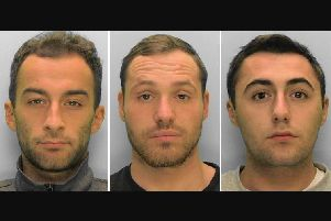 (Left to right) Bradley Gill, Aaron Brown and Ryan Meyer. Picture: Sussex Police
