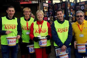 Trustees of the Adur Special Needs Project made a bucket collection at Worthing Football Club's match on Saturday, raising more than �300.