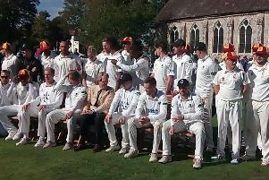 The Duke of Richmond, front centre, tries to assemble the troops for a joint team picture