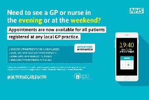 GP and nurse appointments are now available during the evening and at the weekend for people across Coastal West Sussex SUS-180210-173810003