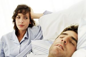Snoring can be a test to any relationship